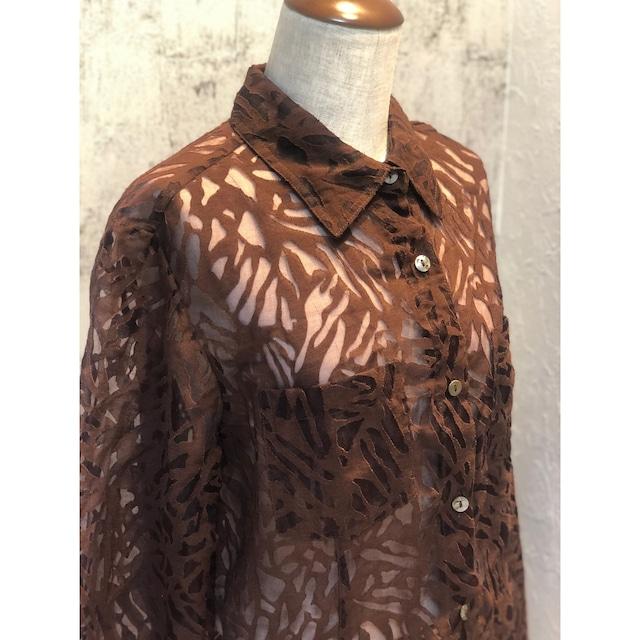 Sukashi leaf blouse