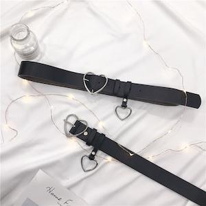 【小物】ハート金属飾りカジュアルベルト43204025