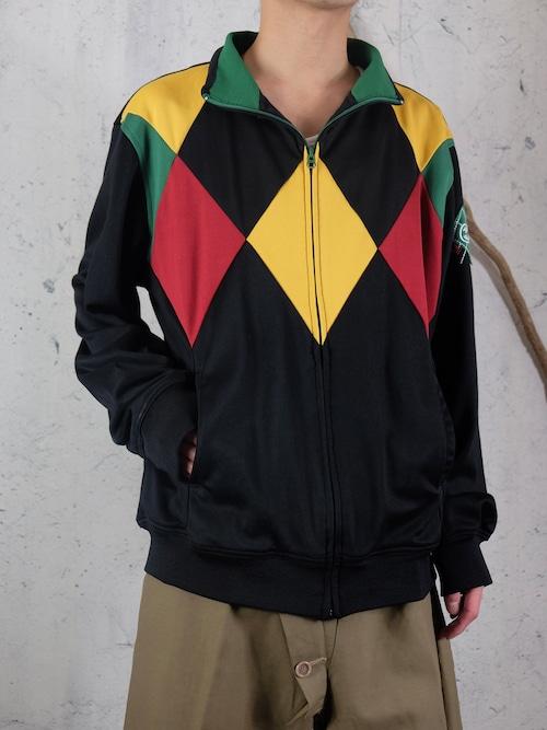 Rhombus zip-up jersey