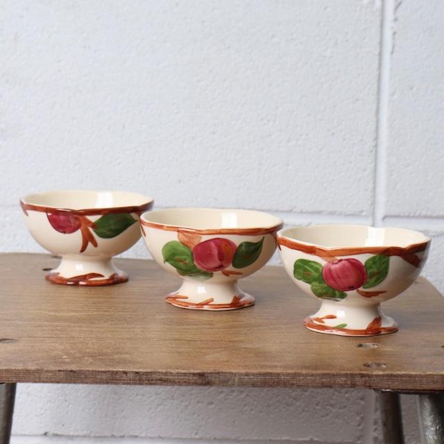 """FRANCISCAN""フランシスカン 80〜90年代 ヨーロッパ イギリス製 ヴィンテージ食器 デザートカップ フルーツ柄 陶器"