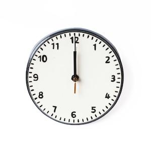 CANASA (カナサ)  壁掛け時計 (磁器製) 大