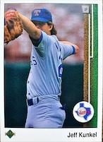 MLBカード 89UPPERDECK Jeff Kunkel #463 RANGERS