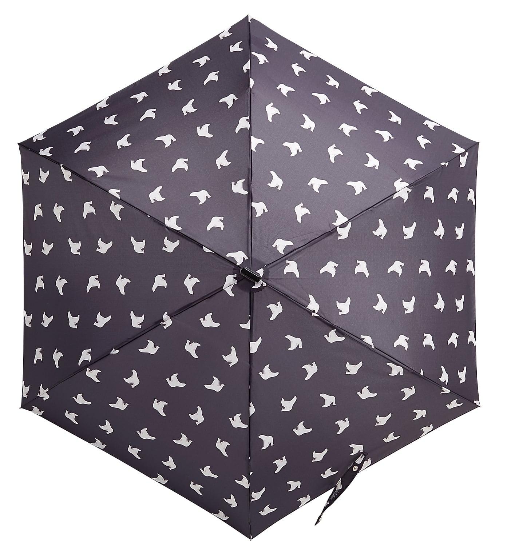 ポンポン 折り畳み傘 ネイビー