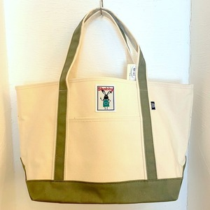 Shabby Color Handle Tote Bag Khaki