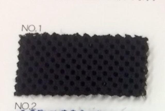 セール中 リュックの背中に ダブルラッセル 黒 クッション材付きネット生地 150センチ幅 黒 50センチ