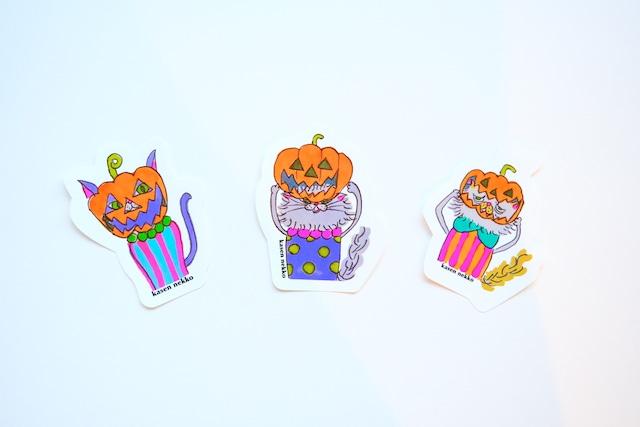 【数量限定30】Halloween  nekko / sticker (3P)