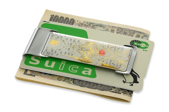 FLASH EVA01 基板アート ICカードクリップ  白 【名入れ無料サービス実施中】