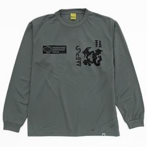 速乾ロングスリーブ Tシャツ(グレー)