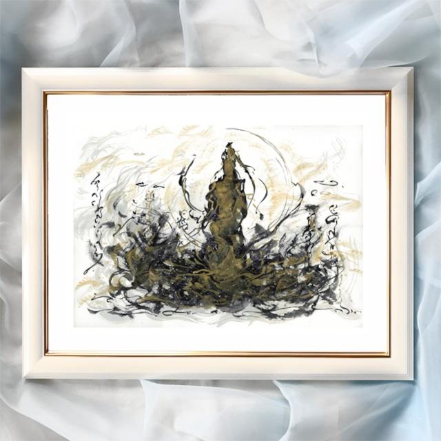 『天からの光』【神性】太子サイズ 額入 ヒーリングアート