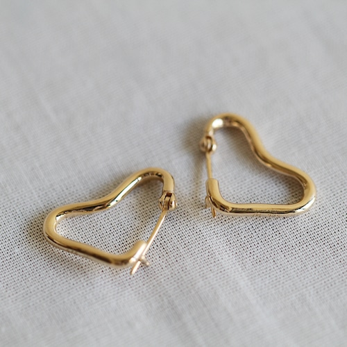 PALA【 womens 】baby heart hoop earring
