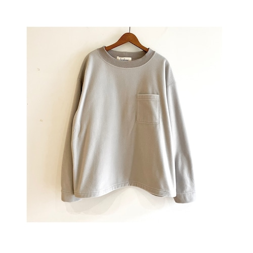 C-91283【POLARTEC WIND PRO 】Plain Fleece Pocket Tee