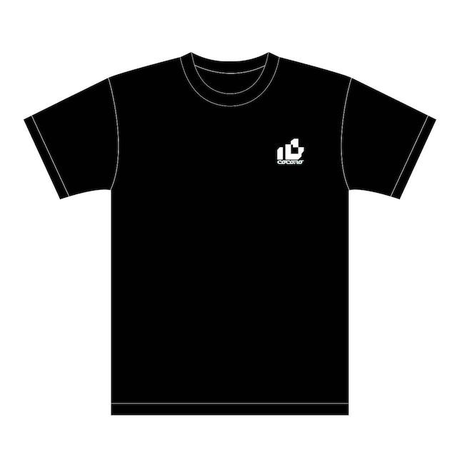 おはようございます×ピノキオピー×あらいやかしこ「心」Tシャツ(ブラック) - メイン画像
