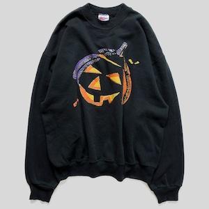 90年代 ジャックオーランタン ハロウィン スウェット XL