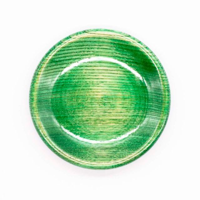 【限定1点 アウトレット品】山中漆器 栓3.5 豆皿 カラフル グリーン 254483 豆豆市196