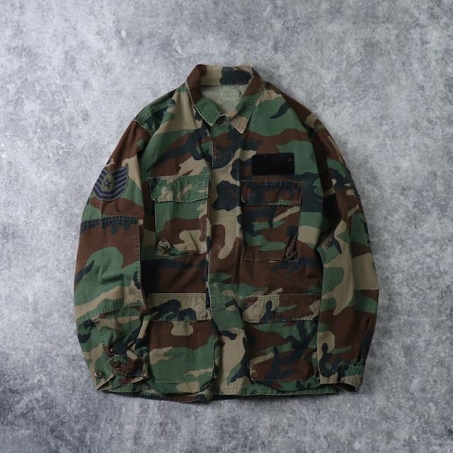 80's U.S.A.F Combat shirts 80年代 エアフォース コンバットシャツ リップストップ ミリタリー ヴィンテージ Vintage 古着 A520
