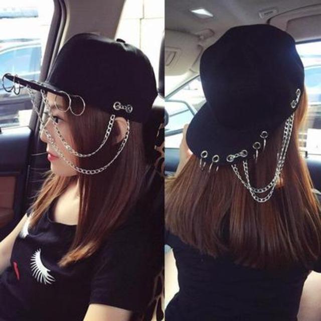 【小物】ファッションストリート系金属飾りリベット帽子43176279