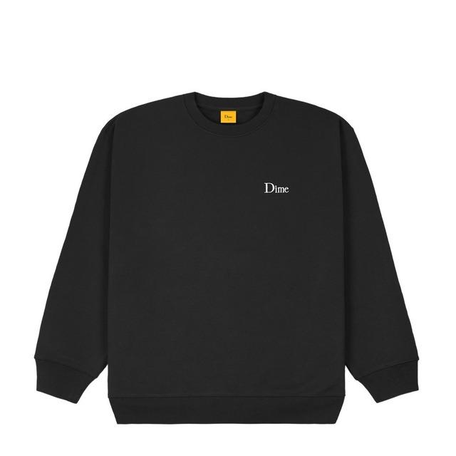 DIME CLASSIC SMALL LOGO CREWNECK BLACK