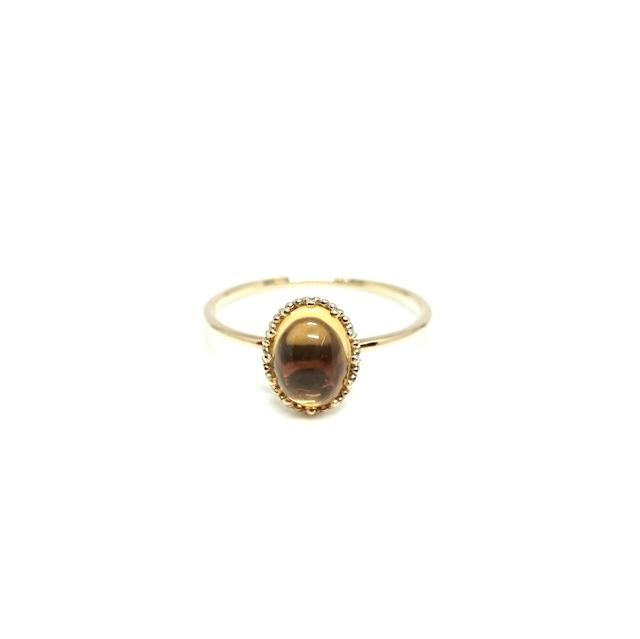 granulation 8×6 gem ring - Citrin