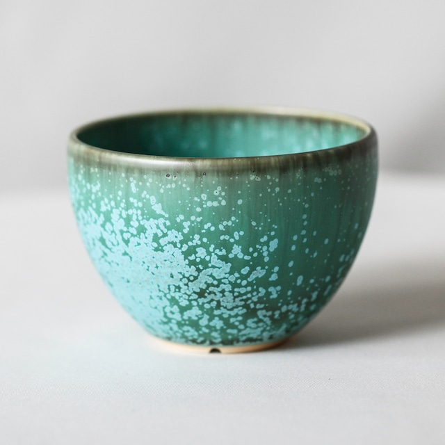 Turquoise glaze bowl pot(L)