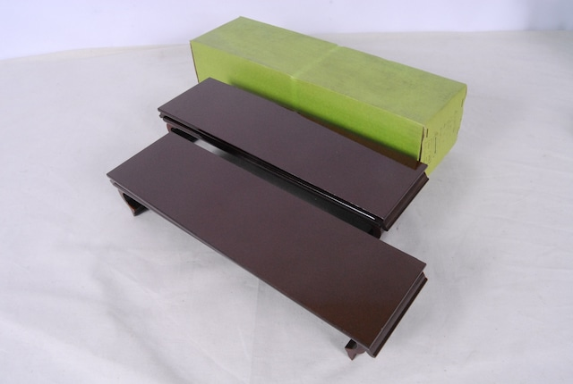 2742 未使用 ワラビ卓 溜塗 白檀仕上 木製 茶 2個入 仏具 愛知県岡崎市 直接引取可