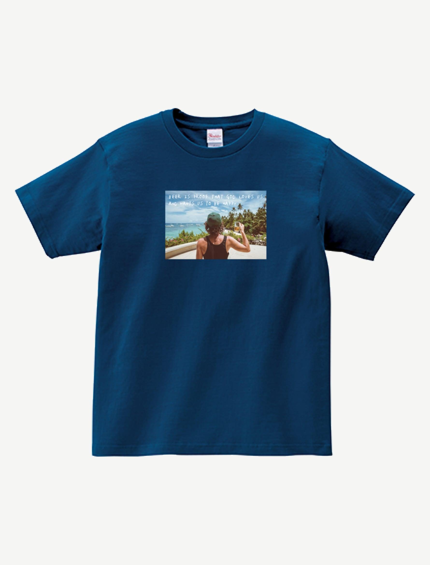 BEER IS PROOF TシャツBP0008NAV