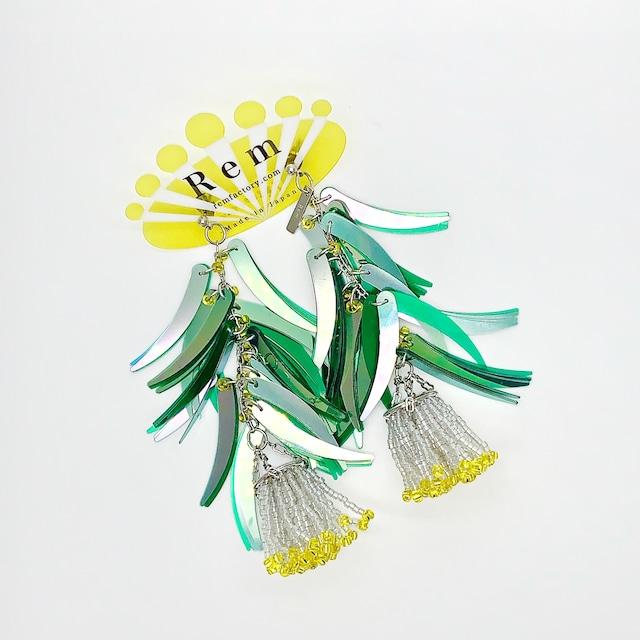 Rem つぼみ耳飾りグリーン ピアス