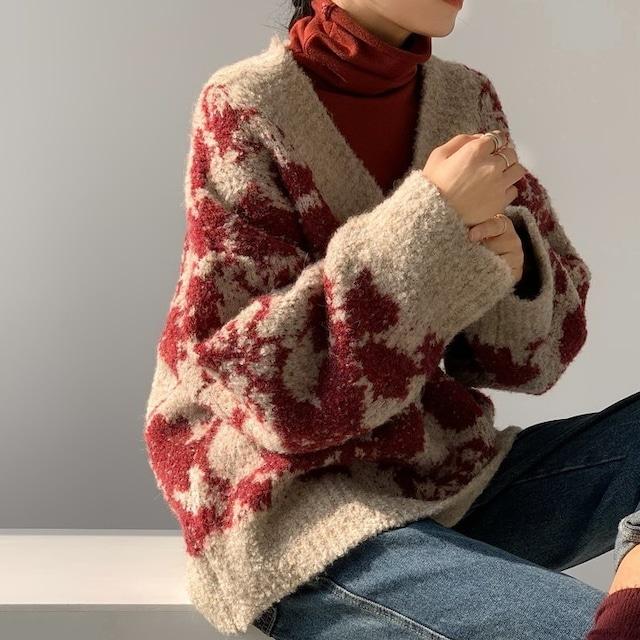 Jacquard thick sweater (ジャガードシックセーター)a-946