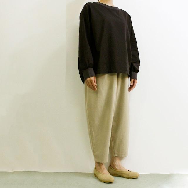 YARRA (ヤラ) YR-214-062 布帛コンビバックヘム ギャザープルオーバーシャツ