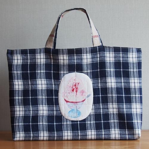 絵本バッグ/かき氷いちごミルクの絵本バッグ(5-127)
