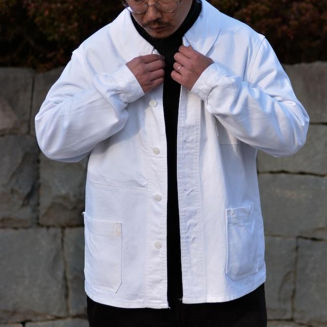"【MADE IN FRANCE】【DEADSTOCK】SANFOR ホワイトワークジャケット ""VESTE DE PEINTRE"""