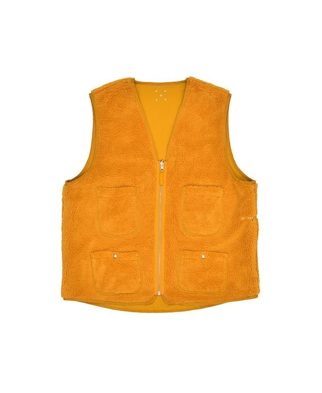 POP TRADING COMPANY REVERSIBLE VEST SPRUCE YELLOW
