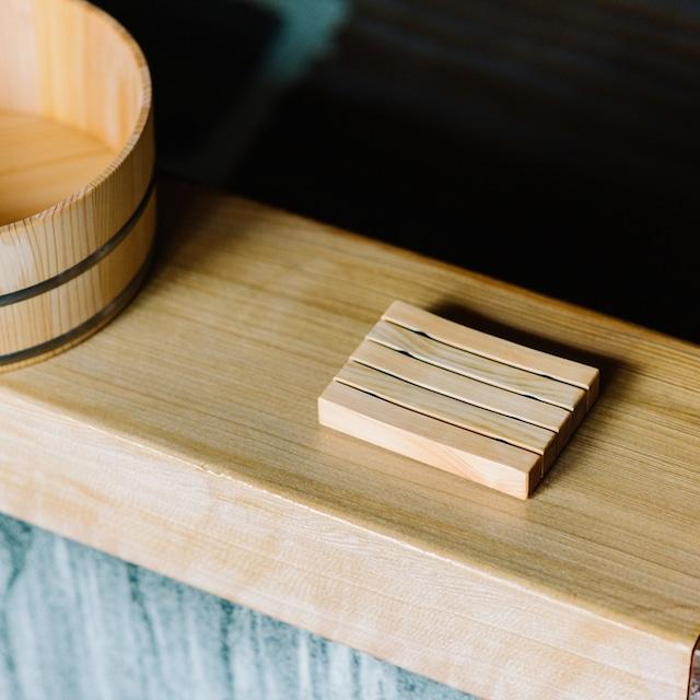 木曽の檜でつくったソープディッシュ Kiso Lifestyle Labo