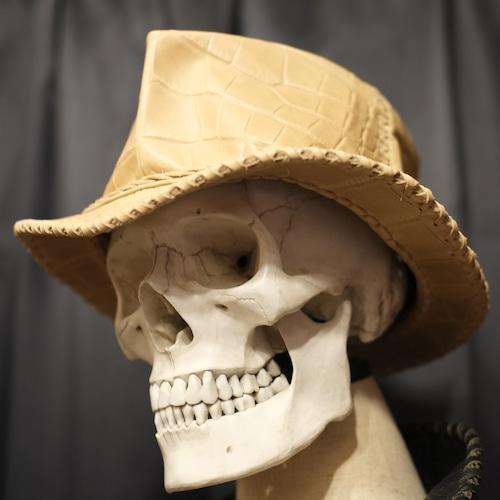 Wild Leather Hat クロコ・モルグ/S(約56cm)限定数1
