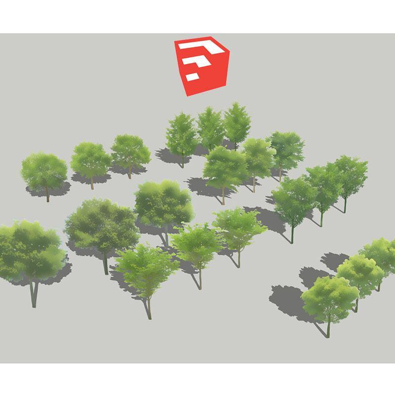 樹木イラストSketchUp 4b_001 - 画像1