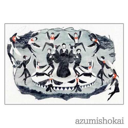 ポストカード - たまごが生まれたヨ - あずみ商會 - no2-azu-03