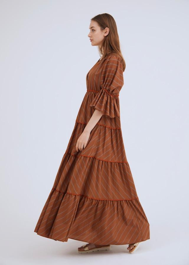 STRIPE TIERED DRESS