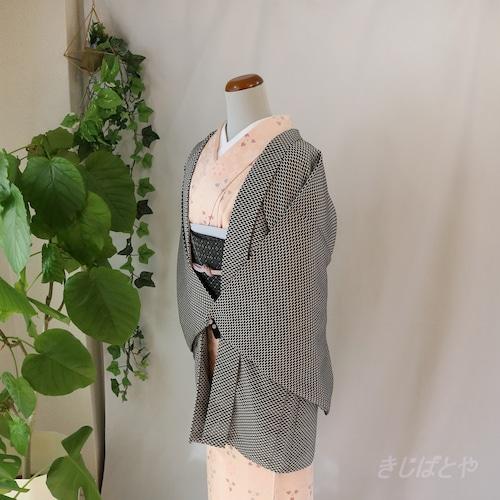 正絹 ひしゃげ亀甲の羽織