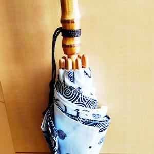 アフリカンファブリックオーダー職人日傘(白地・花)アフリカンプリント