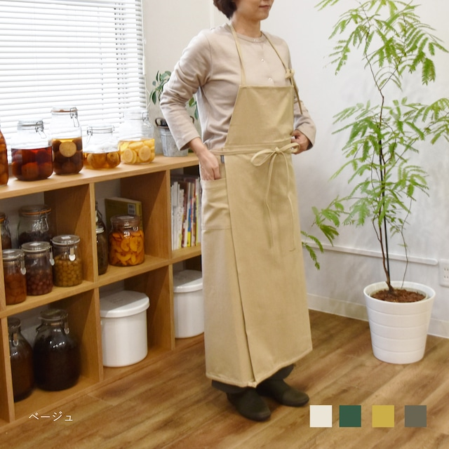 【comfortable シリーズ】Gardening エプロン/コットンリネンキャンバス