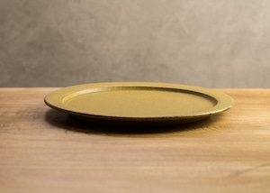 SHIROUMA 洋皿 24cm 芥子色(大皿・ディナープレート)/長谷川 哲也