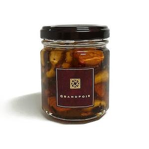 有機ミックスナッツ&有機ドライフルーツ カカオニブスハニー Organic Nuts, Organic dried Fruits & Cacao-nibs dipped in Honey