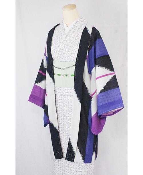 羽織【矢羽根】紫