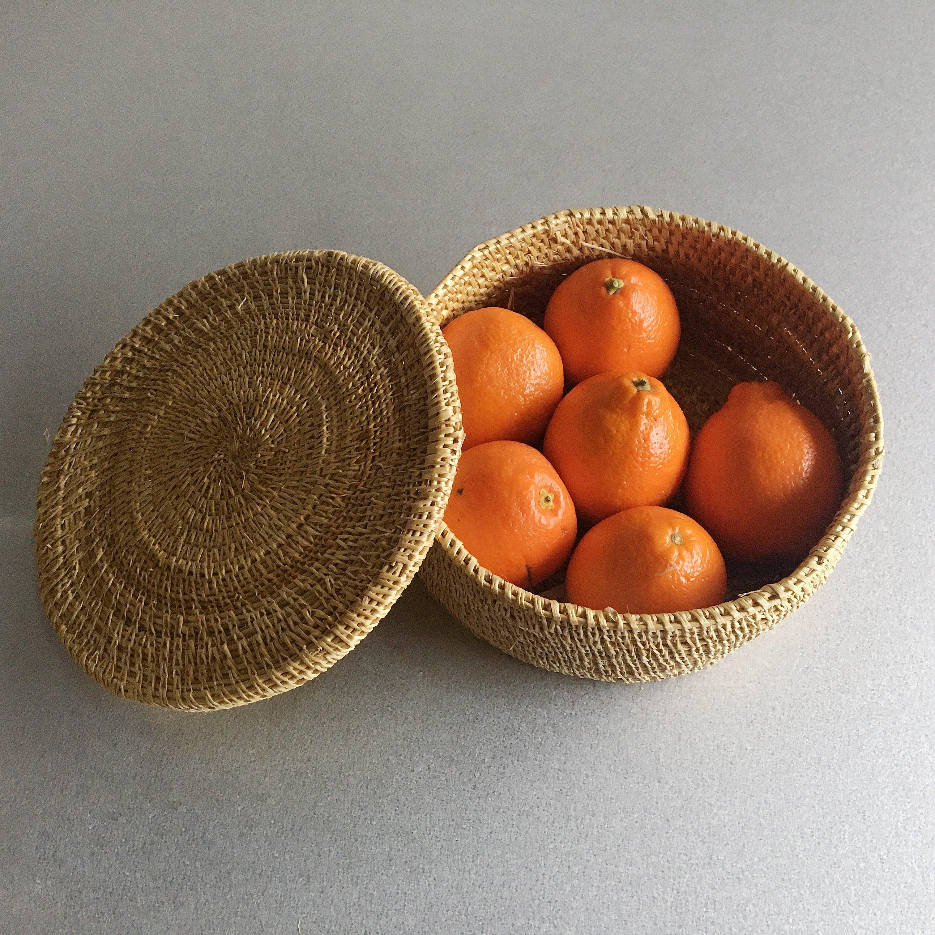 Handmade Round Basket L Size