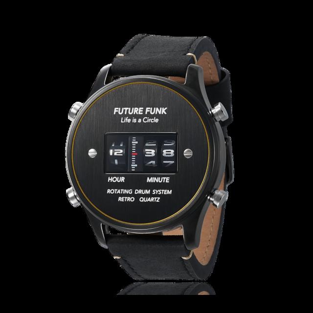 FUTURE FUNK ローラーデジタルウォッチ BKYL-LBK
