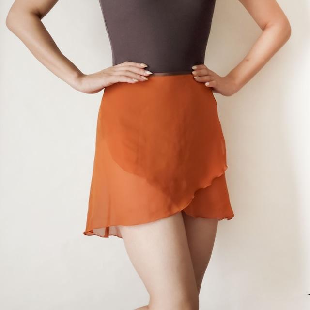 NORMAL wrap skirt【テラコッタ×ブラウン】