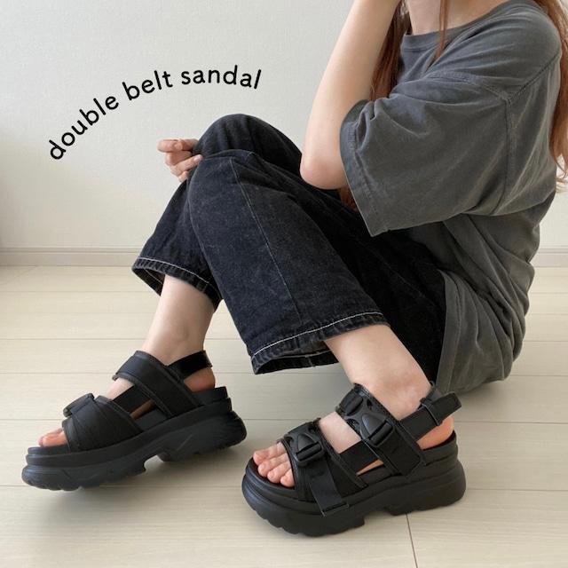 double belt sandal[6/17n-26]