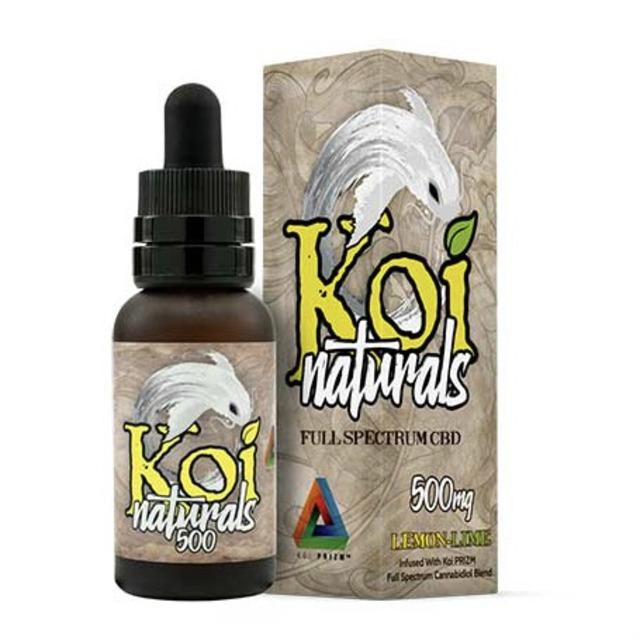 『舌下で摂取』Koi Naturals CBDオイル Lemon Lime味 30ml / 500mgCBD 【Koi CBD】