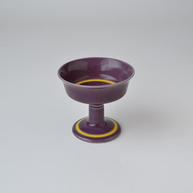 紫釉黄帯 高台反小仲付