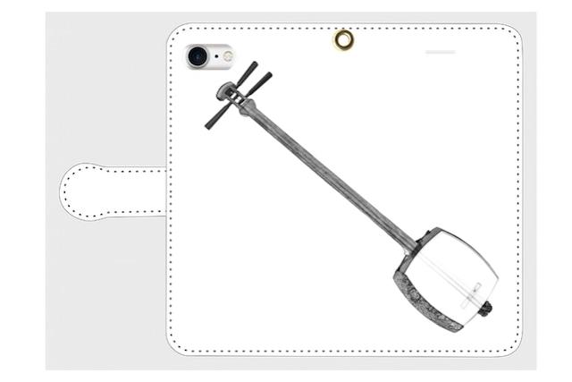 (iPhone用)三味線の手帳型スマホケース