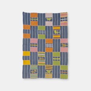 ガーナ エウェ族 ケンテ カラー藍染 SLI020